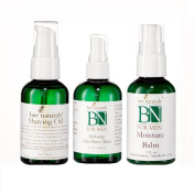 Bee Naturals Protective Shave Trio - All Natural Shave Oil, Moisture Balm & After Shave Tonic - Protect Your Skin From Shaving