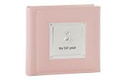 """My 1st Year"" Baby Girl Pink Keepsake Photo Album By Haysom Interiors"
