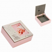 Aluminium Photo Top And Pink Wood Combination Keepsake Box By Haysom Interiors