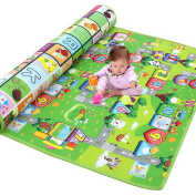 OurWarm 180*200CM New Style Waterproof Double-Side Baby Play Mat Travel Portable Picnic Carpet Home Outdoor Letters