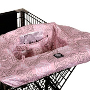 Balboa Baby Shopping Cart Cover in Pink Grey Camellia