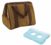 Fit and Fresh Men's Big Phil Insulated Lunch Bag with Ice Pack, Brown