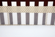 Little Bedding Crib Liner, Brown