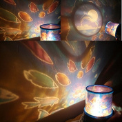 HuaYang Beautiful LED Night Light Romantic Ocean Sky Stars Projector Lamp Decoration