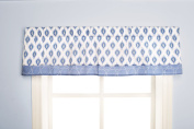 Dena Indigo Window Valance, Blue/White