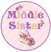 Mumsy Goose Middle Sister Birth Announcement Sticker