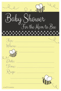 Bumble Bee Baby Shower Invitations - Fill In Style (20 Count) With Envelopes
