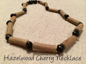 Black Cherry Hazelwood 12.5 to 13 inch Necklace for babies baby infant toddler bub for Gut issues; Eczema, Colic, Reflux, GERD, heartburn, and ulcers. 100% Satisfaction Guaranteed. 33-34 cm 13 inches