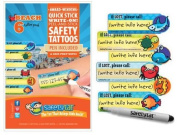 Quick Stick Write-on! Child ID Tattoos NEW