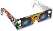 Rainbow Symphony Rainbow 3D Fireworks Glasses - Bird Design, Package of 50