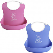 BabyBjorn Soft Bib 2 Pack - Blue/Pink