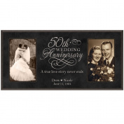 50th Anniversary Picture frame Gift Personalised 50th wedding anniversary with Couples names and anniversary dates Golden Anniversary Gifts