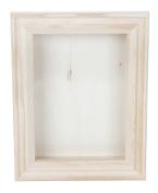 Darice 9184-76 Natural Wood Shadow Box Frame, 13cm
