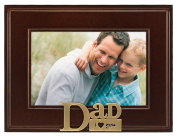 Malden I Heart Brass Word Dad Picture Frame, 10cm by 15cm