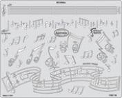 Artool Freehand Airbrush Templates, Stencil Musika