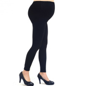 Liang Rou Belly Support Full Ankle Length Thin Stretch Maternity Leggings Colour Black