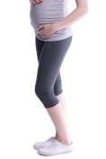 Oasi - Good quality maternity cropped 3/4 leggings 95% Cotton 3082