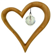 Window Watches Mobile little heart from pear wood, Sterngasse
