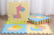 9 Pcs Cute Animal EVA Foam Play Mats Floor Puzzle Crawling Play Game Mat for Baby Kids Childre Toddlers -Bright Colour,Environmental Material, Safe to Use