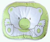 KingWinX Baby Cotton Prevent Flat Head Pillow, Green Bear