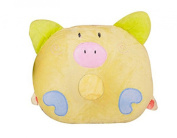 KingWinX Baby Cotton Prevent Flat Head Pillow, Yellow Pig