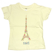 Souvenirs of France - 'Flowered Eiffel Tower' Baby T-Shirt - White