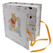 Disney Winne The Pooh Book Keepsake Box with Drawers NEW Gift for Boy or Girl Baby