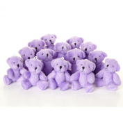 NEW Cute And Cuddly Little PURPLE Teddy Bear X 14 - Gift Present Birthday Xmas