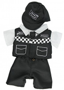 Police Policeman UK Bear 4 piece Outfit Bear Clothes fits 15-16 inch (40cm) Teddies & Build a Bear