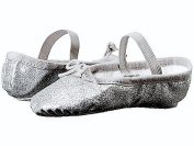 BLOCH SILVER Talullah Girls party Glitterdust Ballet pumps slippers