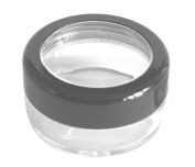 10mL Empty SMALL PLASTIC JAR with Black Rimmed Lid for Cosmetic/Craft/Travel/Lip Balm