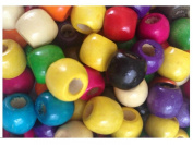 20 Ethnic Mix Wood Beads For Dreadlock Hair 5mm Hole
