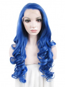 IMSTYLE®Synthetic Lace Front Wig Heat Resistant Lace Front Wig Blue Colour for Drag Queen Party