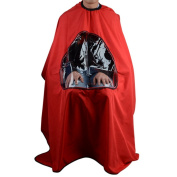 Hair Cutting Gown Hair Salon Cape with Viewing Window Hairdresser Barber Clear Apron