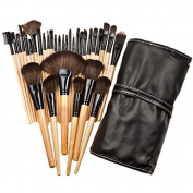 Brightake Professional 32pcs Make Up Cosmetic Wool Bristle Wooden Handle Makeup Brushes Kit Set