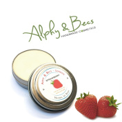 Natural Lip Balm Tin With Mango Butter - Cocoa Butter - Avocado Oil - Vitamin E - 15ml - Strawberry