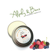 Natural Lip Balm Tin With Mango Butter - Cocoa Butter - Avocado Oil - Vitamin E - 15ml - Mixed Berries