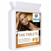 Tanning Tablets 120 Tanning Pills Three Active Ingredients To Tan Your Skin One to Two Months Supply