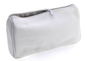 TOILET BAG / COSMETIC BAG TOILETRY BAG LEATHER WHITE
