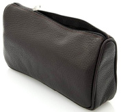 TOILET BAG / COSMETIC BAG TOILETRY BAG LEATHER BLACK