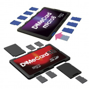 DiMeCard-SD & micro8 microSD + SD Memory Card Holders COMBO PACK