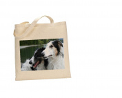 Borzoi Brown & White DOG 100% Cotton Bag(FC) #38