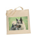 Elkhound DOG 100% Cotton Bag(FC) #98