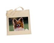 Papillon DOG 100% Cotton Bag(FC) #183