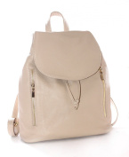 New Season Soft Italian Leather Women's Backpacks with Gold Trim