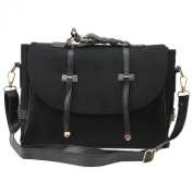 Women Handbag Shoulder Bags Tote Satchel Non-woven Messenger Bag Gift Black