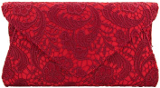 Designer Ladies Lace Envelope Clutch Bag Evening Bag Handbag K