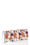 Fashionable Womens Pleated Flower Print Clutch Bag