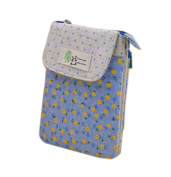 Bronze Times (TM) Panda Polka Dots Floral Zipper Shoulder Bag /Mini Phone Pouch