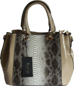 Ladies Designer Patent Effect Tote \ Shoulder Bag by Haoerxi - Paris